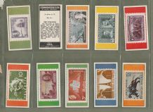 vintage Trade cards set Commemorative Stamp series 1963
